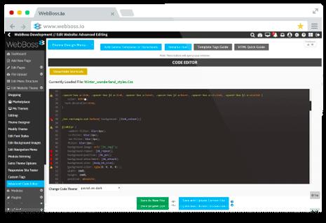 WebBoss Code Editor